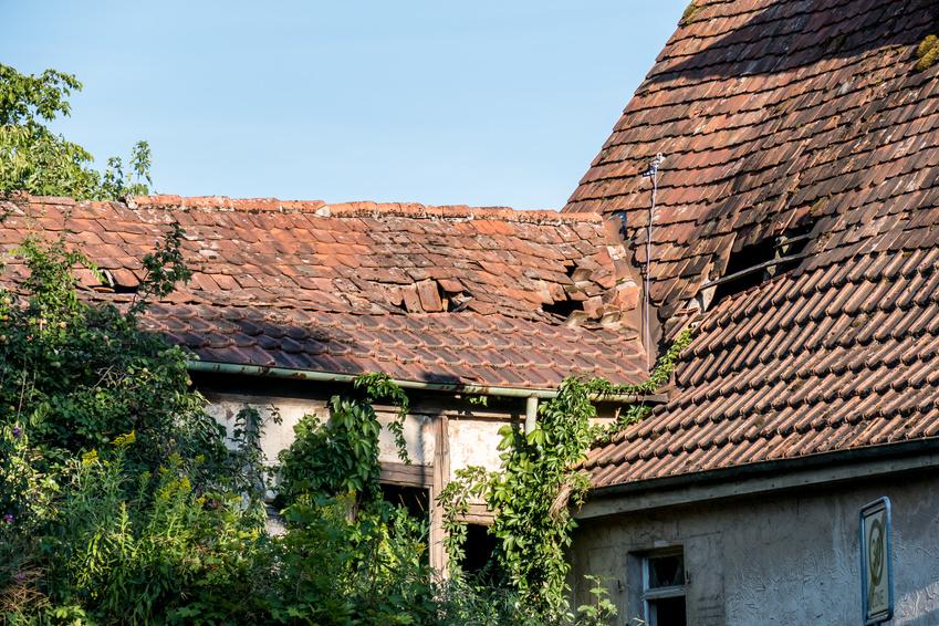 undichtes Dach